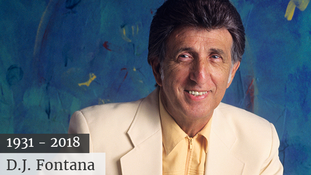 DJ Fontana in Nashville, TN on August 1, 1997. (Photo by Ebet Roberts/Redferns)