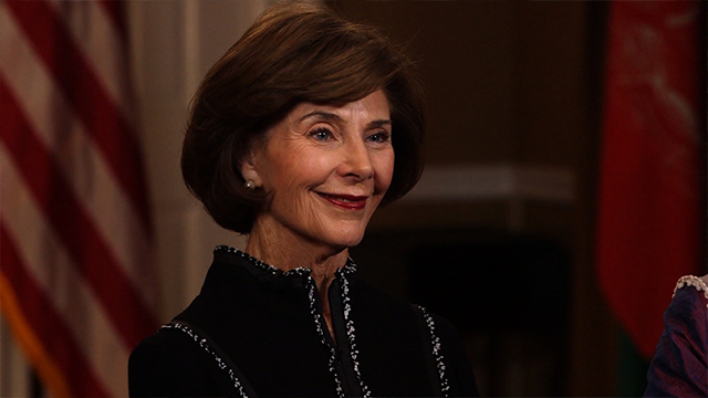 Former first lady Laura Bush is a grandmother, a former librarian and a fierce fighter for women's rights. (CNN)