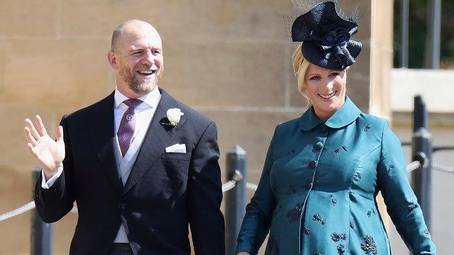 Mike and Zara Tindall arrive for the wedding ceremony of Prince Harry and Meghan Markle at St. George's Chapel in Windsor Castle in Windsor, near London, England, Saturday, May 19, 2018. (Chris Jackson/pool photo via AP)