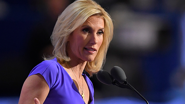 FILE - In this Wednesday, July 20, 2016, file photo, conservative political commentator Laura Ingraham speaks during the third day of the Republican National Convention in Cleveland. (AP Photo/Mark J. Terrill, File)