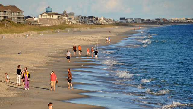 This file image shows Atlantic Beach off the coast of North Carolina. (James Willamor, Wikimedia Commons)