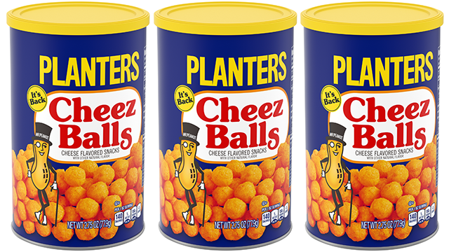 After 12 years, Planters Cheez Balls and Cheez Curls are coming back!