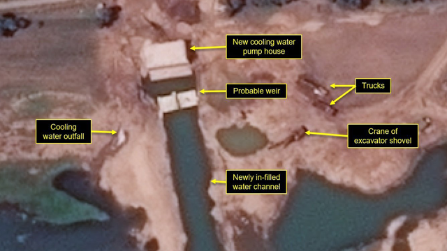 New satellite images show North Korea has made rapid improvements to the infrastructure at its Yongbyon Nuclear Scientific Research Center. (Photo: Airbus Defense and Space and 38 North via CNN)