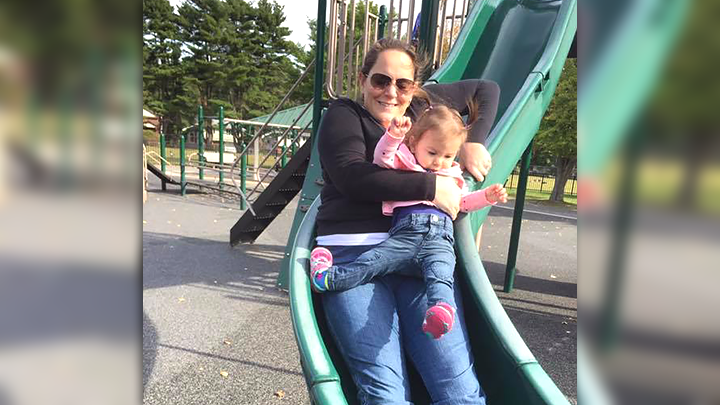 Mom Shares Warning About Riding Down Slide With a Child