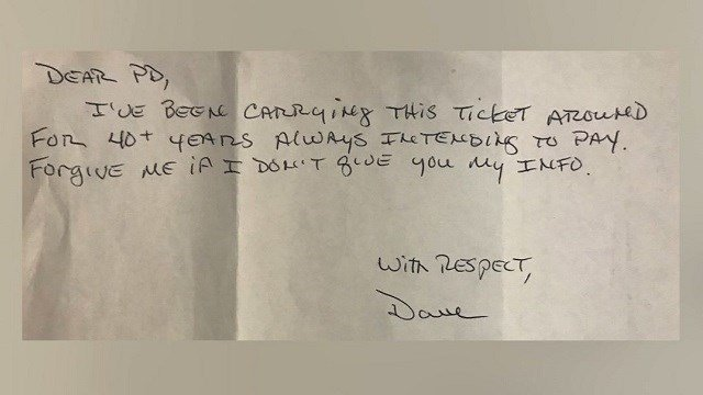 Pennsylvania Man Pays Parking Ticket 44 Years Later