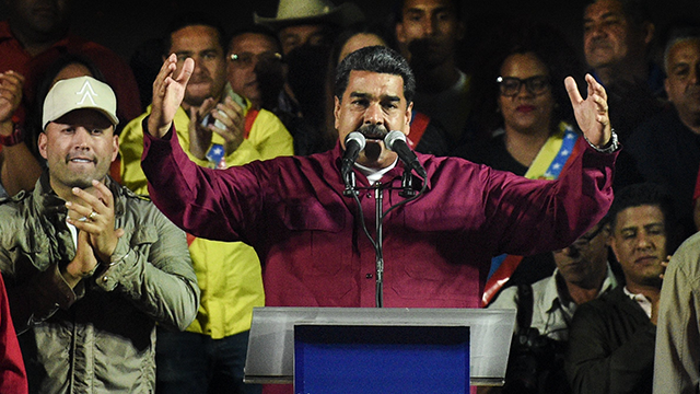 Venezuelan President Nicolas Maduro announced on Tuesday that his country was expelling two top US diplomats following vocal criticism from the Trump administration over last Sunday's controversial presidential elections. (Getty Images)