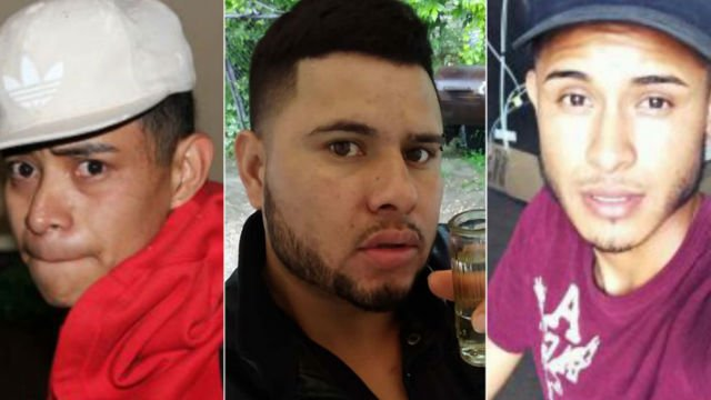 Juan Garcia Rios Adiel (from left), David Ramos Contreras and Arnulfo Ramos are wanted in the alleged rape and kidnapping of two teenage sisters in Ohio, police say. (Photo: Bowling Green Police via CNN)