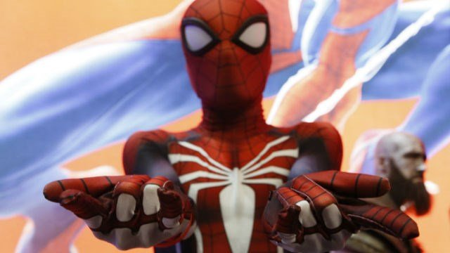 In this Thursday, June 14, 2018, a gamer dressed as Spiderman character attends the 24th Electronic Entertainment Expo E3 at the Los Angeles Convention Center. (AP Photo/Damian Dovarganes)