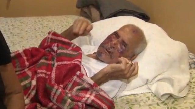 Rodolfo Rodriguez, 92, was brutally beaten on the Fourth of July. (KTLA via CNN Wire)