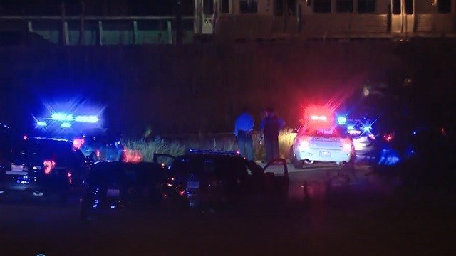Emergency responders work the scene of a helicopter crash in Chicago. (WBBM via CNN Wire)
