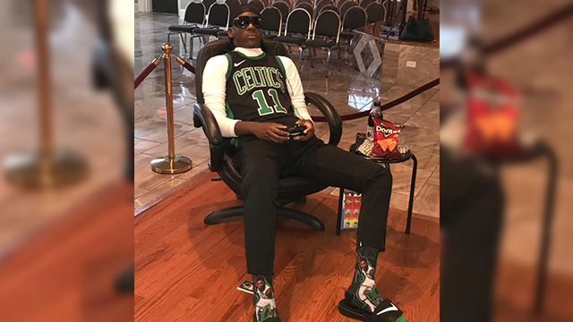 Deceased Celtics fan is staged playing NBA2K at funeral