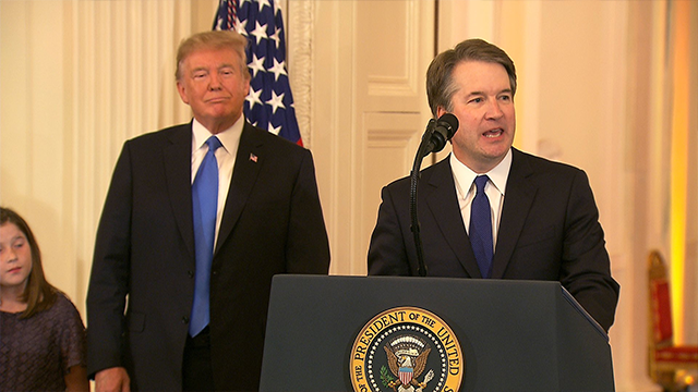 President Donald Trump announced on Monday his decision to nominate Brett Kavanaugh to fill the Supreme Court vacancy created by Justice Anthony Kennedy's decision to retire. (CNN)