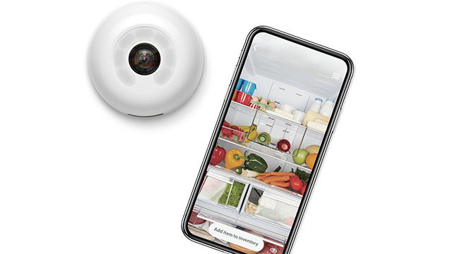 Smarter's FridgeCam lets users see the contents of their fridge, from their phone. (Smarter/CNN)
