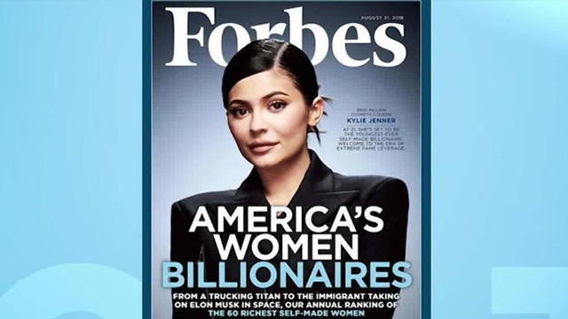 """After Forbes magazine touted """"America's Women Billionaires"""" with Kylie Jenner on its cover, the backlash was immediate over the reference to the reality TV star as """"self-made."""" (Forbes/CNN)"""