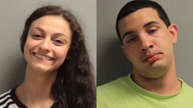 Jamie Coutee (left) and Miguel Glorioso (right) were arrested after police said they allegedly had sex in a courthouse stairwell. (Photo: Rapides Parish Sheriff's Office)