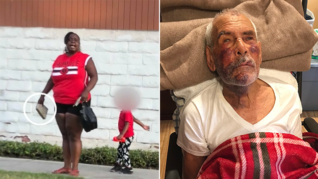 A woman has been arrested in connection with a brutal beating of a 92-year-old man. (CNN)