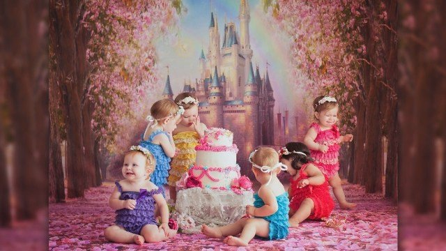 'Disney princess newborns' reunite for 1st birthday
