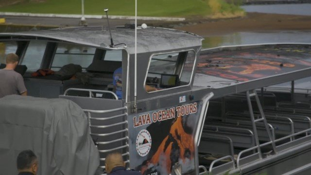 Lava crashes through roof of Hawaii tour boat
