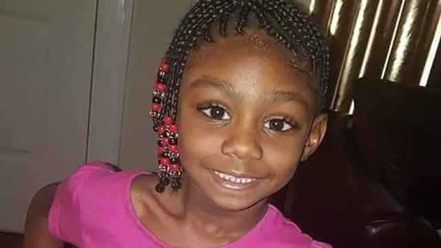 This undated photo provided by Sandria Burt shows 7-year-old DeSandra Mariah Thomas. (GoFundMe)