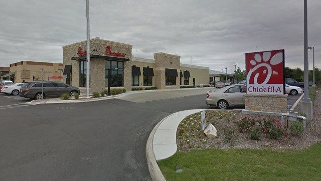 A couple delivered their daughter inside the bathroom of this Chick-Fil-A restaurant in San Antonio on Tuesday night. (Google Maps)
