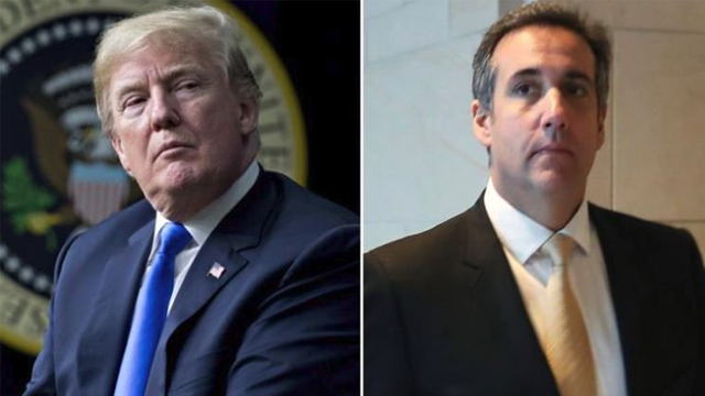 Presidential candidate Donald Trump is heard on tape discussing with his attorney Michael Cohen how they would buy the rights to a Playboy model's story. (Getty Images via CNN)