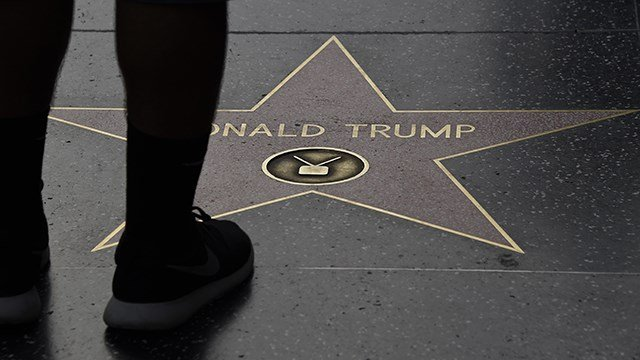 Trump's Hollywood Walk of Fame star destroyed - again