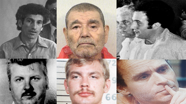 Here's a select list of convicted American serial killers and notable open or unsolved cases. (Photo Credit: AP/Meredith)