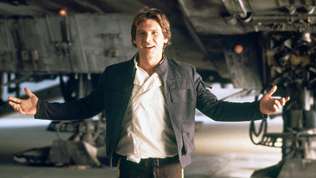 American actor Harrison Ford on the set of Star Wars: Episode V - The Empire Strikes Back directed by Irvin Kershner. (Photo by Lucasfilm/Sunset Boulevard/Corbis via Getty Images)