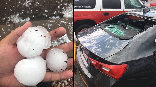 Multiple injuries in destructive hailstorm that included baseball-sized hail