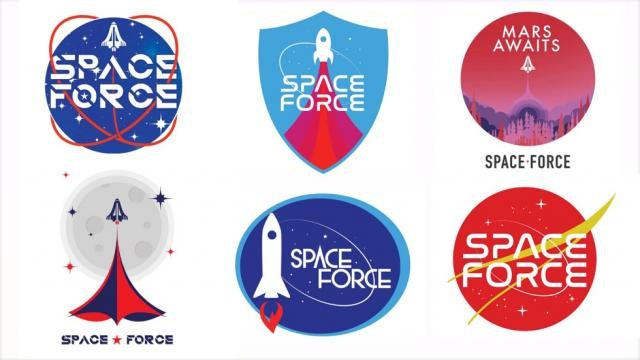 Trump campaign asks supporters to vote for Space Force logo. (Trump campaign)