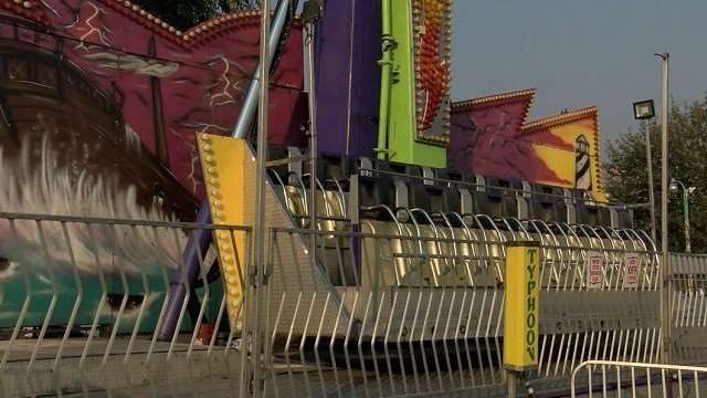 """An 11-year-old girl is in serious condition at the hospital after falling off this """"Typhoon"""" carnival ride at a fair in Montana. (KPAX via CNN Wire)"""