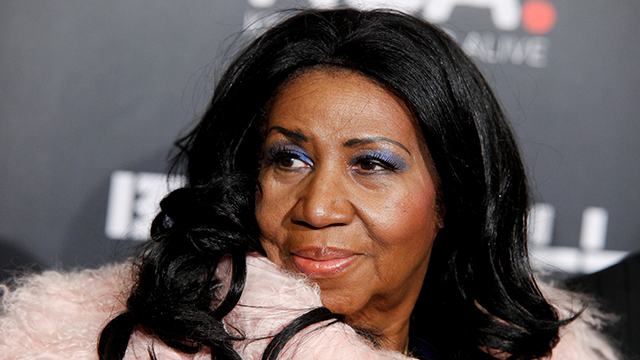 Aretha Franklin attends Keep a Child Alive's 2014 Black Ball at the Hammerstein Ballroom on Thursday, Oct. 30, 2014, in New York. (Photo by Andy Kropa/Invision/AP)
