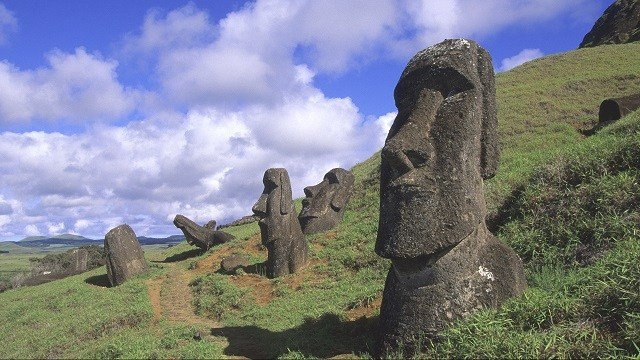 Easter Island, Rano Raraku, Quarry, Moai Statues. (Photo by Wolfgang Kaehler/LightRocket via Getty Images)