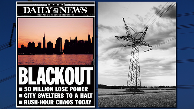 Daily News Front Page headline August 15, 2003 Special Edition, BLACKOUT, 50 Million Lose Power, City Swelters To A Halt, Rush-Hour Chaos Today, (Photo by NY Daily News Archive via Getty Images)