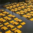 Photo of dozens of taxis flooded in Hoboken NJ