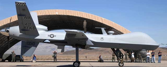 MQ-9 Reaper at Creech Air Force Base, Nevada