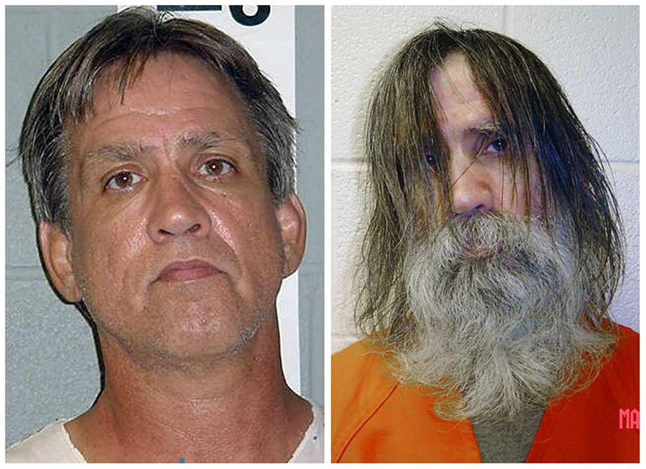 The left picture shows Stephen Slevin in Aug. 2005 at the time of his arrest for drunken driving.  The right photo shows him in May 2007, shortly before being released. (Source AP)