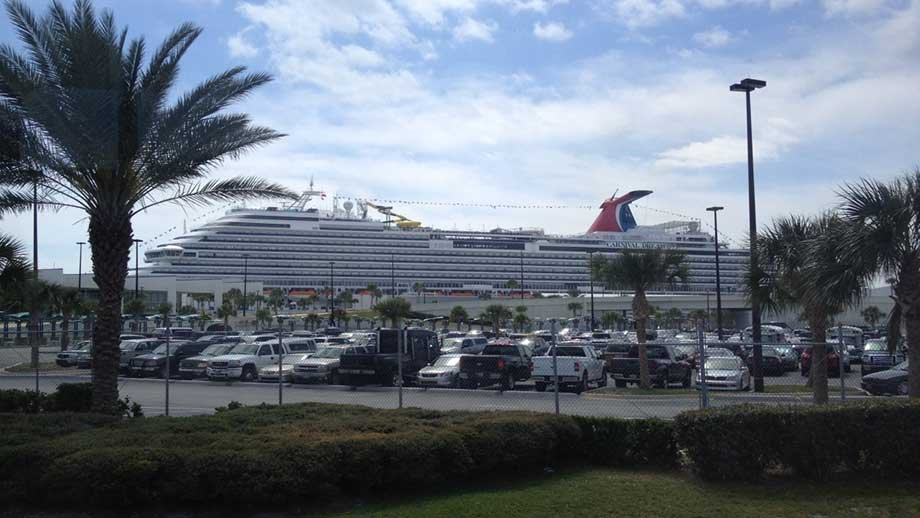 Carnival Dream docks at Port Canaveral, Florida.  (Source: Kris Anderson/WREG)