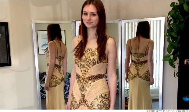 Sarah Hoffer, of St. Louis, spent $259 on her prom dress, which required an extra $220 in alterations.  (CNN)