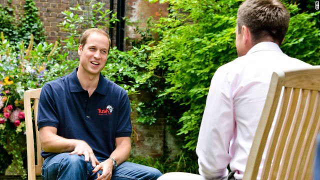 Prince William has given his first official interview to CNN since his wife, the Duchess of Cambridge, gave birth to their first child.  (CNN)