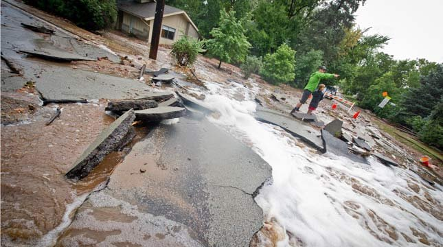 CNN iReporter Merrick Chase took these photos of devastating flooding in Boulder, Colorado.