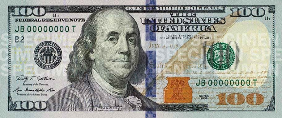The image of Benjamin Franklin will be the same as on the current bill.