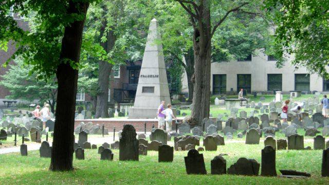 Dating back to 1660, this small Boston cemetery holds many Revolutionary War heroes, including Paul Revere, John Hancock and Samuel Adams. The cemetery was owned by the family of Ben Franklin, though he is buried in Philadelphia. (Hilary Davidson/CNN)