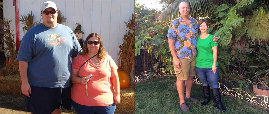 Matthew and Amy Shack have lost a combined 425 pounds.