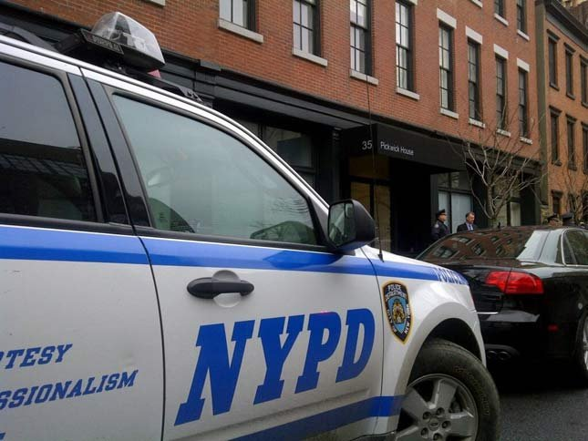 Police on the scene at Philip Seymour Hoffman's West Village apartment where he was found dead of an apparent drug overdose on Sunday.