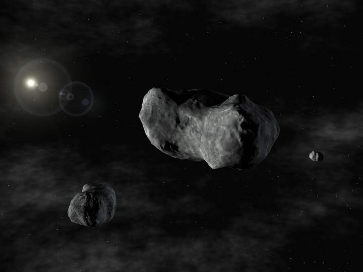 An asteroid with an estimated diameter of three football fields is expected to zoom by Earth, missing our home by 2 million miles. (Photo illustration)