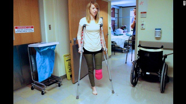 Adrianne Haslet-Davis' life as a dancer was shattered last year at the Boston Marathon bombings.