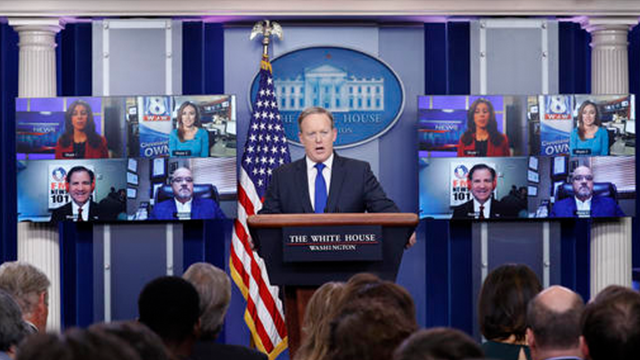White House daily press briefing goes high-tech using ...