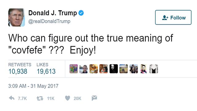 Trump's 'covfefe' tweet sends internet into a frenzy ...
