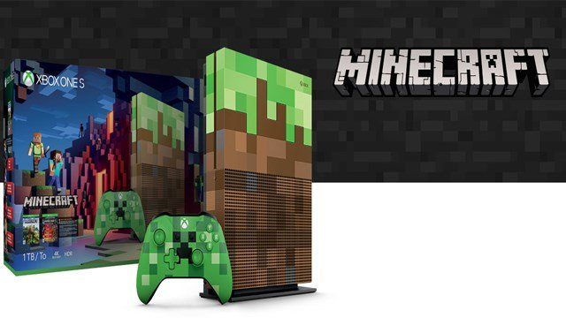 microsoft releasing limited edition xbox one s 39 minecraft. Black Bedroom Furniture Sets. Home Design Ideas